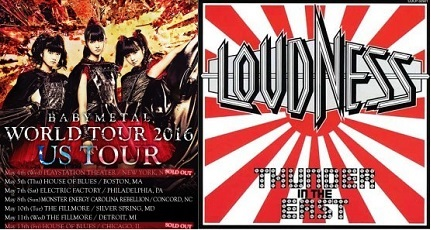 BABYMETAL and LOUDNESS