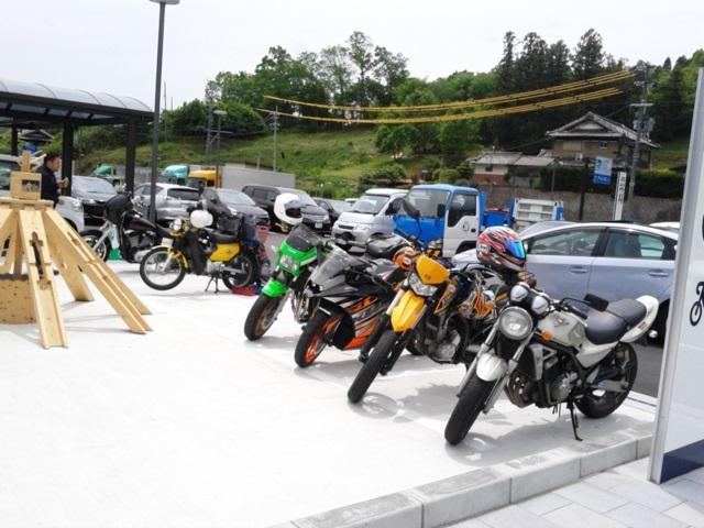 お茶の京都みなみやましろ村二輪用駐車スペース